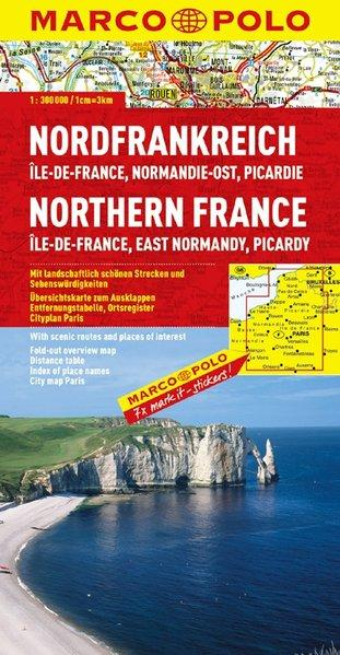 MARCO POLO Karte Frankreich Blatt 1 Nordfrankreich 1:300 000 Ile-de-France, Normandie-Ost, Picardie