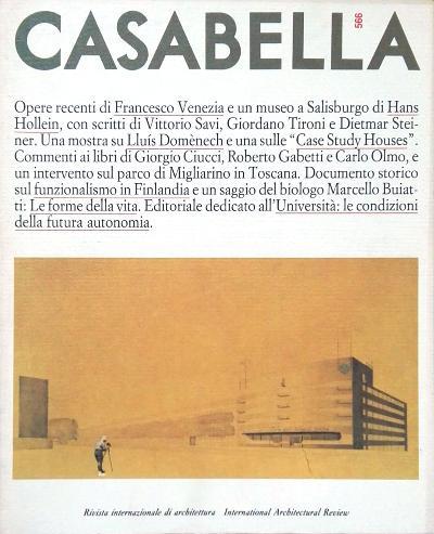 Casabella 566 - Direttore: Vittorio Gregotti