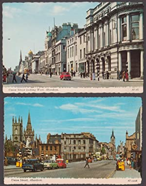 Lotto di 2 cartoline - Post Cards - Union Street, Aberdeen. + Union Street looking West, Aberdeen.
