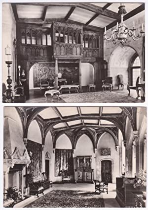 Lotto di 2 cartoline - Post Cards - Berkeley Castle. King's Pew in the Long Drawing Room + The Mo...