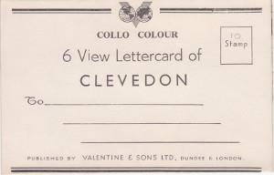 Collo Colour - 6 View Lettercard of: Published by Valentine