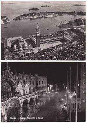 Lotto di 2 cartoline - Post Cards - Venezia Panorama e Venezia - Chiesa e Piazzetta S. Marco