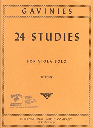 Gaviniés 24 Studies for Viola Solo (Transcribed by A. Spitzner)