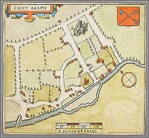 St Asaph, Flintshire. John Speed. Ca 1611: Speed