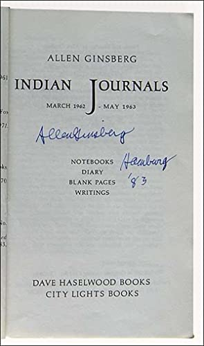 Indian Journals. March 1962 - May 1963.: Ginsberg, Allen