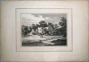 Valle Crucis Abbey. Original uncoloured lithograph: Drawn by Miss Smirke, engraved by J Harriden.