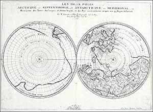 Arctic and Antarctic ]. Les Deux Poles. Arctique ou Septentrional, et Antarcticque ou Meridional, ...