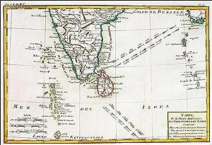 Carte De la Partie Inferieure de L'Indie en Deca Gange contenant L'isle De Ceylan, Les ...