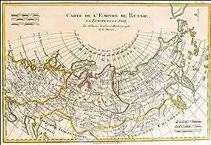 Carte De L'Empire de Russie en Europe: Rigobert Bonne
