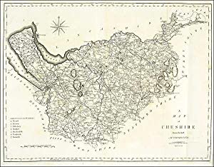 Antique Map of Cheshire by John Cary. 1805: John Cary