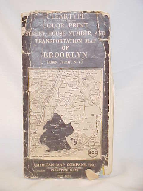 American Map Company Inc.Brooklyn Kings County Ny Cleartype Trade Mark Color Print Street