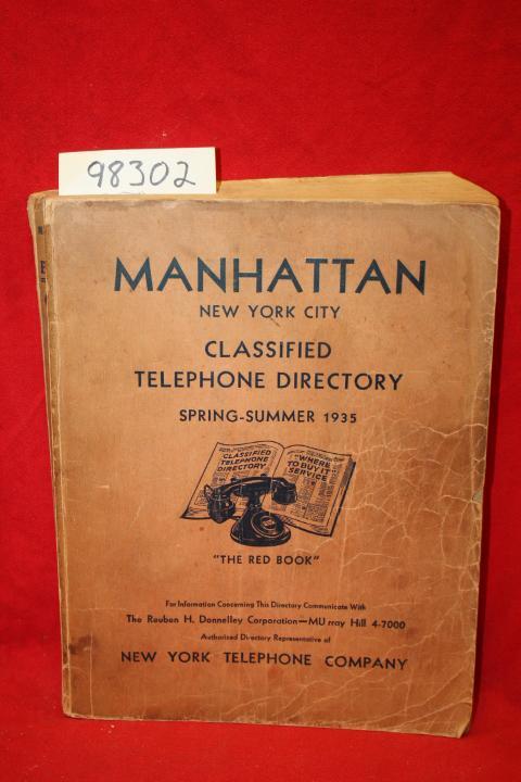 Manhattan New York City Classified Telephone Directory Spring Summer