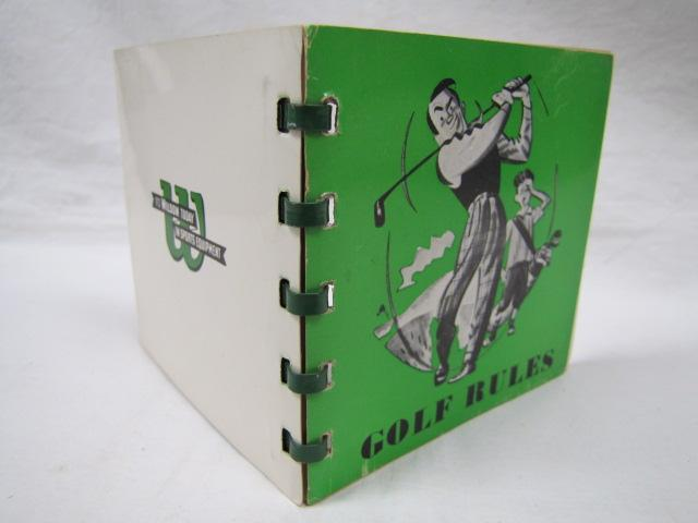 Official Rules of the United States Golf Association Wilson Sporting Goods Co Good Softcover tiny vintage booklet, Wilson Sporting Goods Co., 1946, soft cover spiral binder DATE PUBLISHED: 1946 EDITION: 102