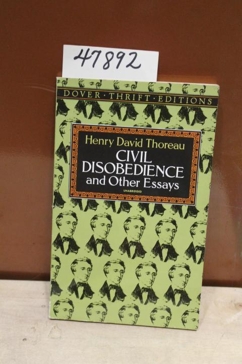 Civil Disobedience And Other Essays Dover Thrift Editions By  Civil Disobedience And Other Essays Dover Thrift Editions Thoreau Henry  David