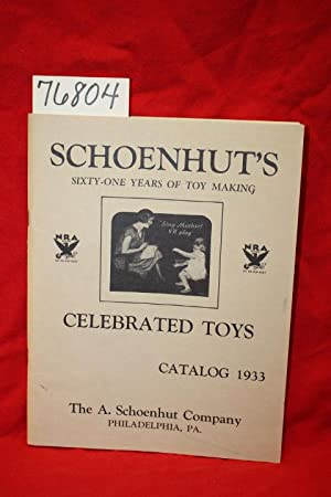 SCHOENHUT'S CELEBRATED TOYS CATALOG 1933;: Schoenhut