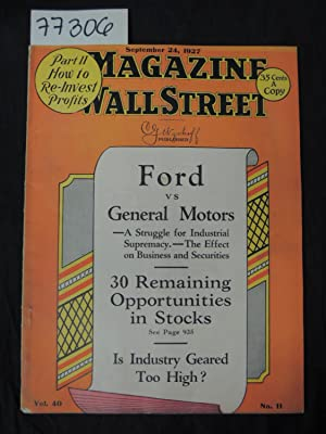 The Magazine of Wall Street Ford vs General Motors 30 Remaining Opportunities in Stocks Is: Wyckoff...