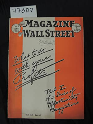The Magazine of Wall Street What to do with your Profits Part 1 of a series of Opportunity ...