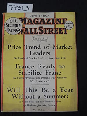 The Magazine of Wall Street Price Trend of Market Leaders France Ready to Stabilize Franc WIll this...