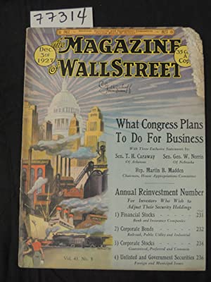The Magazine of Wall Street What Congress Plans To Do For Business: Wyckoff, Richard D.