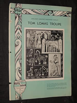 Tom Lomas Troupe: England's Greatest Pantomimic Novelty: Larry Boyd & Phil Wirth Inc. Strand ...