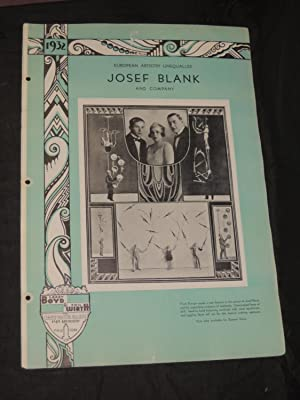 Josef Blank and Company: European Artistry Unequalled: Larry Boyd & Phil Wirth Inc. Strand Theatre ...