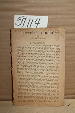 Letters to Judd: Sinclair, Upton