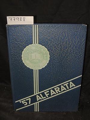 PRESENTING THE 1957 ALFARATA Yearbook: Juniata College