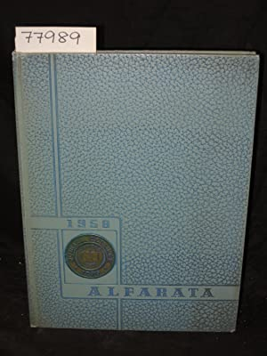 1958 ALFARATA VOLUME 40 Yearbook: Nahrgang, Ross, and Fahrney, Peter editors