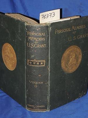 PERSONAL MEMOIRS OF U.S.GRANT VOLUME 2 Only: U.S.GRANT, U.S.