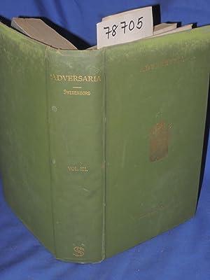 Adversaria in Libros Veteris Testamenti: Swedenborgii, Emanuelis Emanuel Swedenborg,