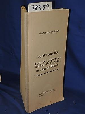SECRET ARMIES Advanced Uncorrected Proof: Bergier, Jacques