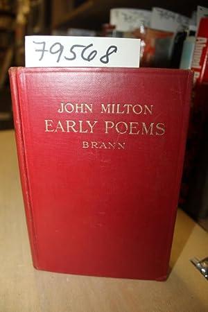 EARLY POEMS OF JOHN MILTON: Brann, Mercy A.