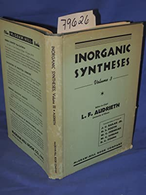 INORGANIC SYNTHESES VOLUME III: Audrieth, L.F.