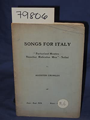SONGS FOR ITALY: Crowley, Aleister