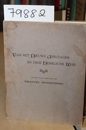 VAN HET NIEUWE JERUZALEM EN ZIJNE HEMELSCHE LEER: Swedenborg, Emanuel