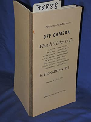 Advance Uncorrected Proofs: OFF CAMERA WHAT IT'S LIKE TO BE AL PACINO, DIANA RIGG, DUSTIN ...