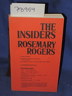 THE INSIDERS Uncorrected Proof: Rogers, Rosemary