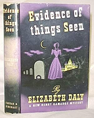 Evidence of things seen: Daly, Elizabeth