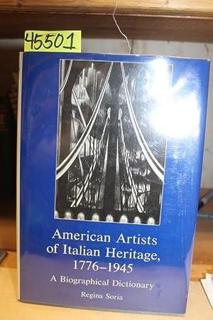 American Artists of Italian Heritage 1776-1945: Soria, Regina