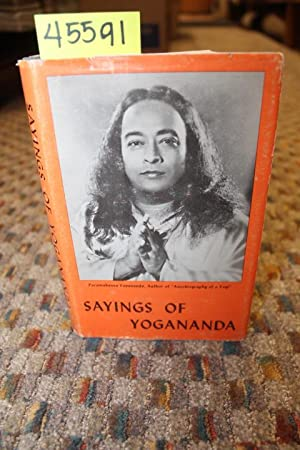 Sayings of Yogananda dust jacket: Yogananda, Paramahansa