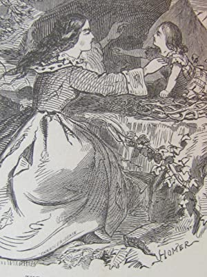Leila Among the Mountains: Homer, Winslow Winslow etching