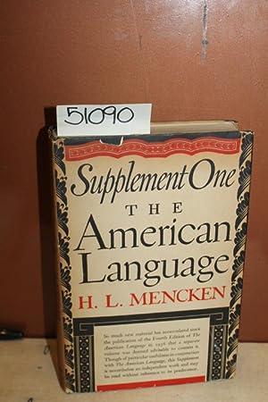 Supplement One the American Language: Mencken, H.L.