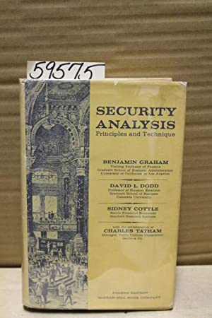 Security Analysis, Principles and Technique: Graham, Benjamin, Dodd,