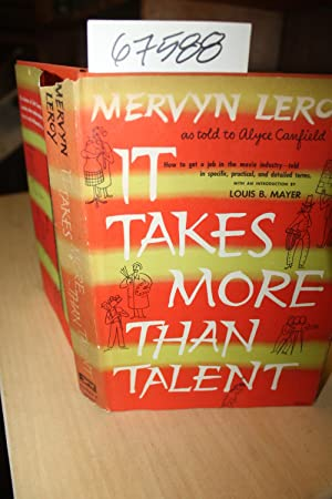 It Takes More than Talent SIGNED by: Leroy, Mervyn SIGNED