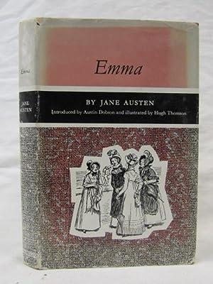 Emma 1961 Macmillan, red hardback, illustrator: Hugh Thomson: Austen, Jane