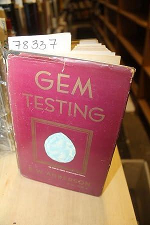 GEM TESTING: Anderson, B. W.