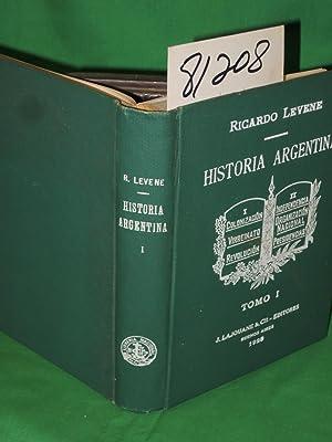 Historia Argentina Volume I (Tomo I): Levene, Ricardo