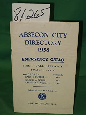 Absecon City Directory 1958: Absecon Kiwanis Club