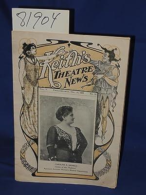 Keith's Theatre News Vol V Philadelphia Dec. 28 1908, No. 18: Keith