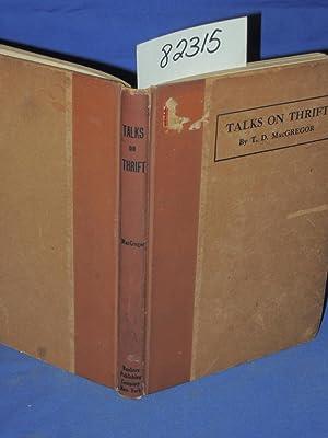 Talks on Thrift: MacGregor, T.D.
